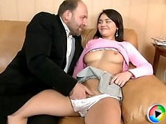 Horny teacher made his coed a real fuck slut because she was a bad girl and lazy student during the semester.