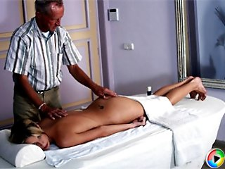 Horny old masseur