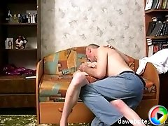 Lustful mature guy shows a young pussy what sex is all about